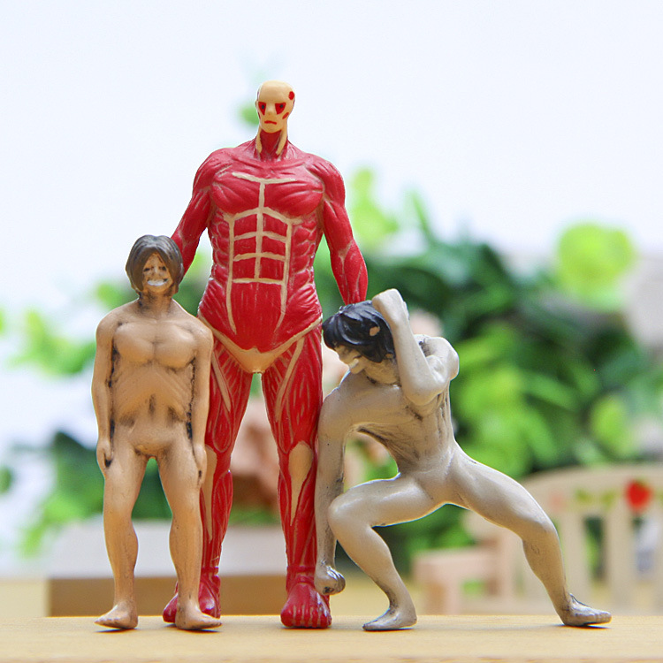3 Piece New Titan Colossal Titan Attack On Titan Animation Action Figure Doll House Birthday Christmas Gifts Kids Toys