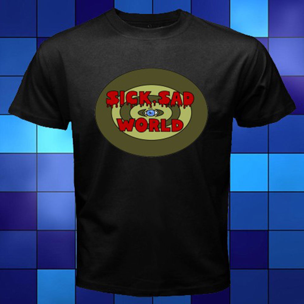 New Daria Sick Sad World Black T-Shirt Size S to 3XL