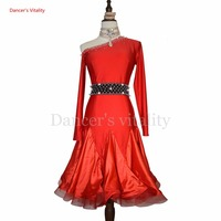 Latin dance costume senior Diamonds latin dance dress women sexy gauze dress for women latin dance competition colthes