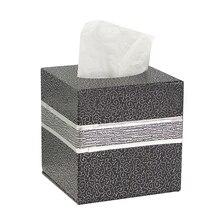 Квадратный кожаный чехол для дома, комнаты, машины, отеля, тканевая коробка, бумажный держатель для салфеток, чехол, 12 цветов