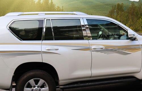 Pour TOYOTA PRADO moyen orient édition 2700 fenêtre garniture fenêtre lumière autocollant-in Chrome décoratif from Automobiles et Motos on paik 0001 Store