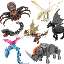 Brick-Toy Building-Block Thunderbird Horntail-Figure Beast Fantastic Occamy Thestral