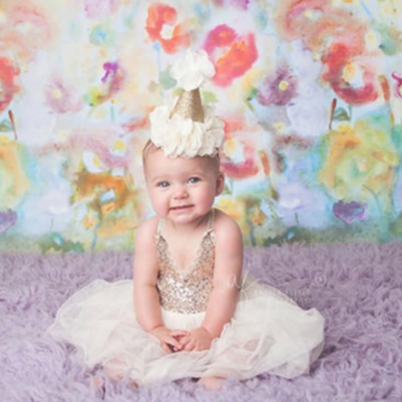 36 հատ / լիտր Նոր մանկական աղջիկ ոսկե թագի գլխաշոր Ծննդյան ծննդյան թագի գլխաշոր