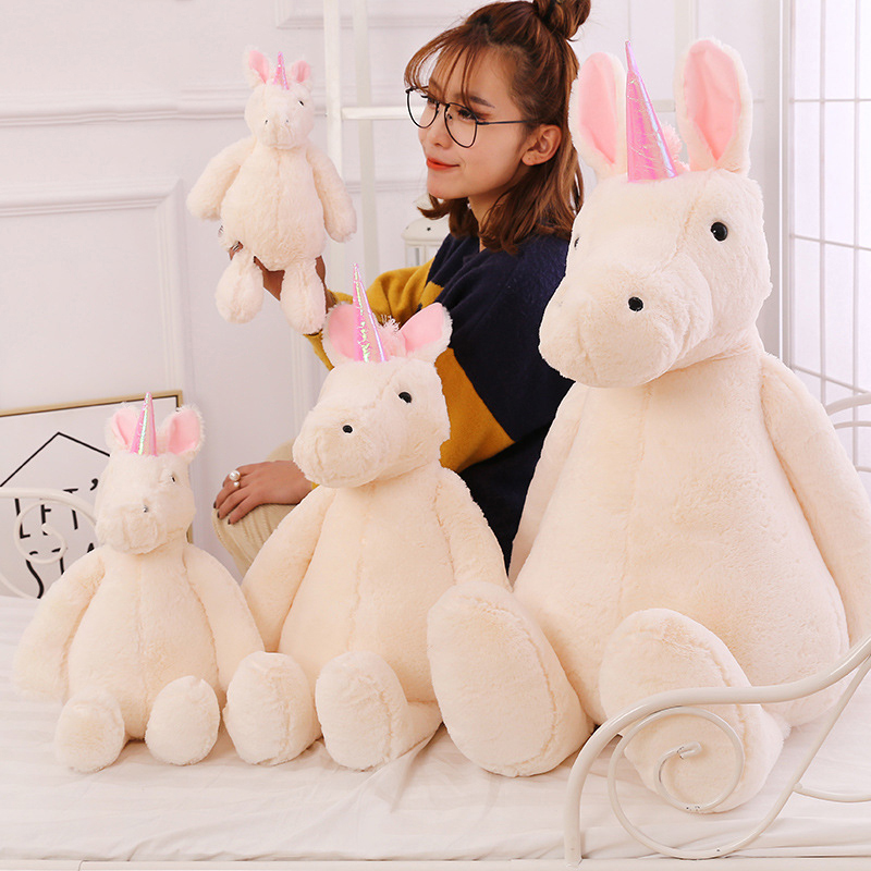 Plush Stuffed Toys Unicorn Toy for Kids Big Size Animal Unicorn Dolls Horse Soft Christmas gift Birthday gift for girlfriend hi ce new arrival mechanical horse kawaii animal ride on horse lion rode on horse kids toy for children adult new year gifts