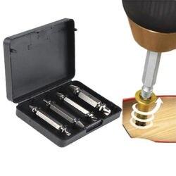 Fixmee 4 pc Schraube Extractor Drill Guide Set Entfernung Gebrochene Schraube Schrauben Fastner Einfach Aus Holz Bolzen Stud Remover-Tool kit
