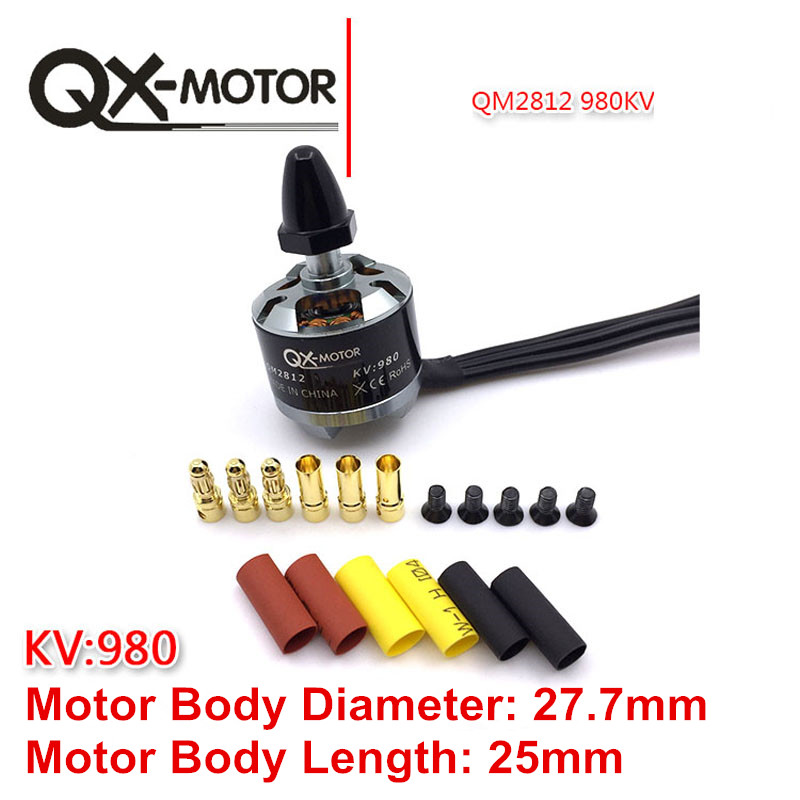 4Pcs QX-Motor CW CCW QM2812(2212) 980KV Brushless Motor for F330 F450 F550 X525 Multicopter RC Drone Motor Parts jmt a2212 c2312 900kv brushless motor cw ccw for drone f330 f450 f550 multi rotor aircraft rc droneparts