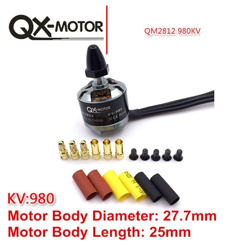 все цены на QX-Motor 4Pcs CW CCW QM2812(2212) 980KV Brushless Motor for F330 F450 F550 X525 Multicopter RC Drone Motor Parts онлайн