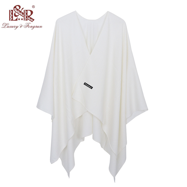 2020 140*140mm Winter Square female Poncho Cashmere Wool Women Poncho Scarf  Solid Foulard Femme Pashmina Shawl Winter Excharpe 6