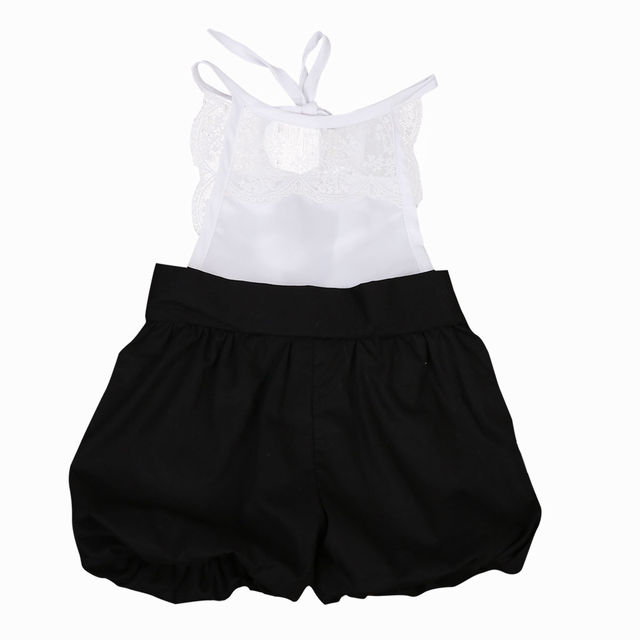 dc7ec426d2b6 Girls Sleeveless Cute Jumpsuit Outfits Clothes Fashion Kids Baby Girls  Clothing Lace Romper Ruffle Shorts 0-5 T