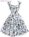 2017 mujeres del verano dress robe rockabilly 50 s vintage vestidos tallas grandes retro casual vestidos del partido vestidos floral dress sexy hueco