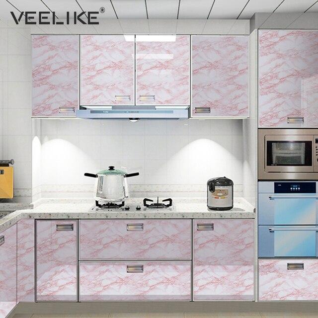 Marmor Vinyl Selbst Klebe Tapete Für Arbeitsplatten Kontaktieren Papier  Wasserdichte Wand Aufkleber Für Küche Wohnzimmer Wohnkultur