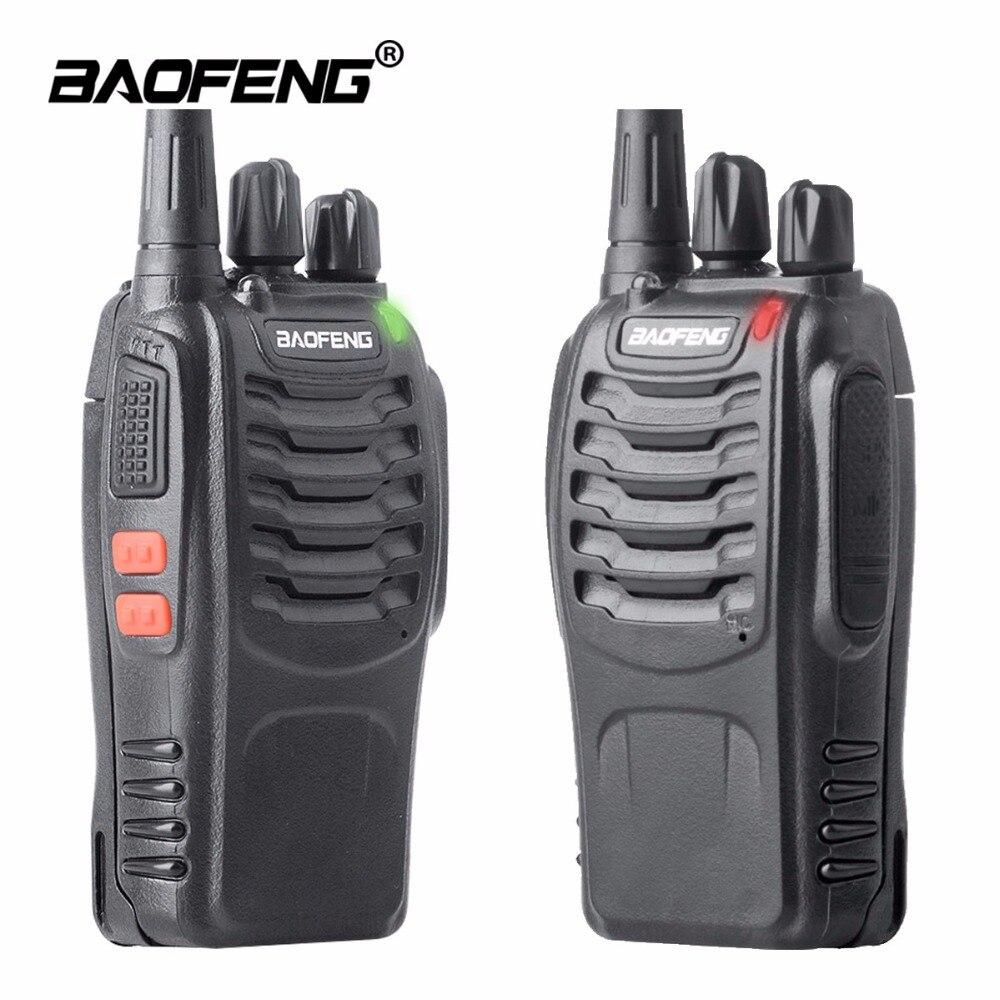 2 PZ Baofeng BF Walkie Talkie bf 888 s 5 W Two-way radio Portatile CB Radio UHF 400-470 MHz 16CH Professionale taklie walkie