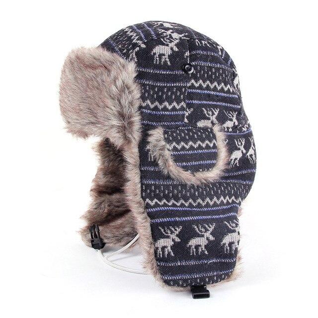 368e5fab5c Hot Russian Hat Ushanka Female Faux Fur Winter Bomber Hats For Men Women  Deer Trapper Snow Cap Mens Winter Hat Ear Flaps AHT201