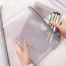 Deli File Folder Transparent Document Bag Student Study Accessories Stationary Office Filing Supply
