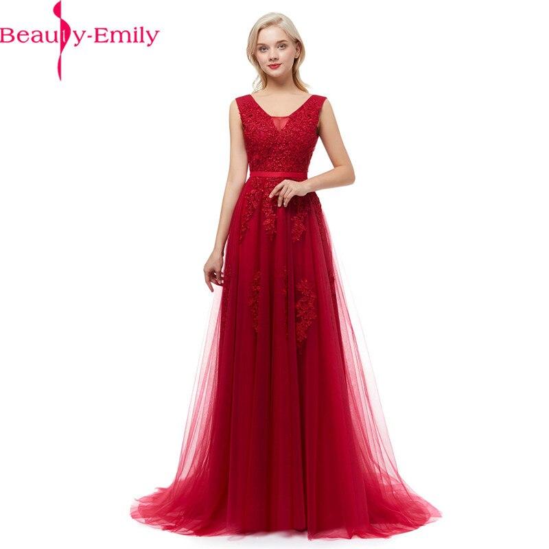 Robe De soirée Sexy V dos longues robes De soirée avec Appliques De haute qualité sans manches Robe De bal De fête De nombreuses couleurs disponibles