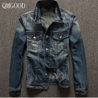 QMGOOD Europe And The United States Spring Classic Men S Denim Jacket Slim Fashion Denim Jacket
