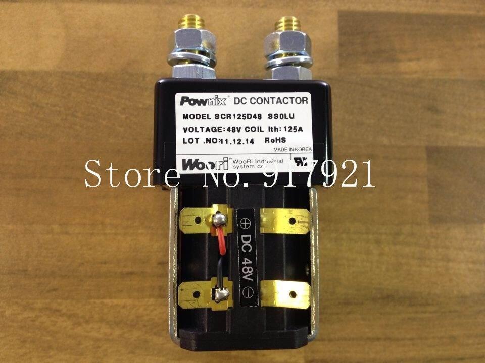[ZOB] South Korea's POWNIX SCR125D48 DC48V125A & lux DC contactor forklift original generator --2pcs/lot [zob] original original srd n4 dc48v 2no 2nc genuine original dc contactor 2pcs lot