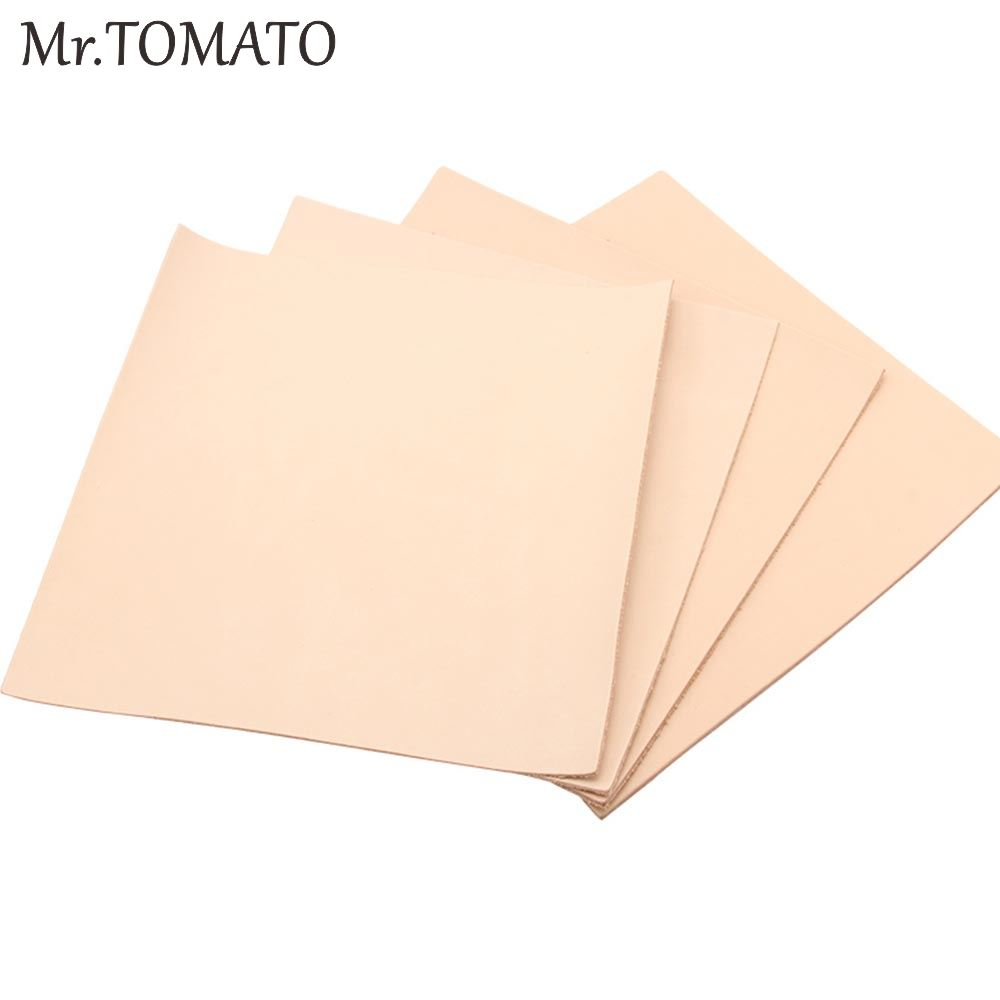 Leather Craft Carving Tooling Dying Vegetable Tanned Leather Piece Veg Tan Genuine Cowhide First Layer Full Grain Material Skin