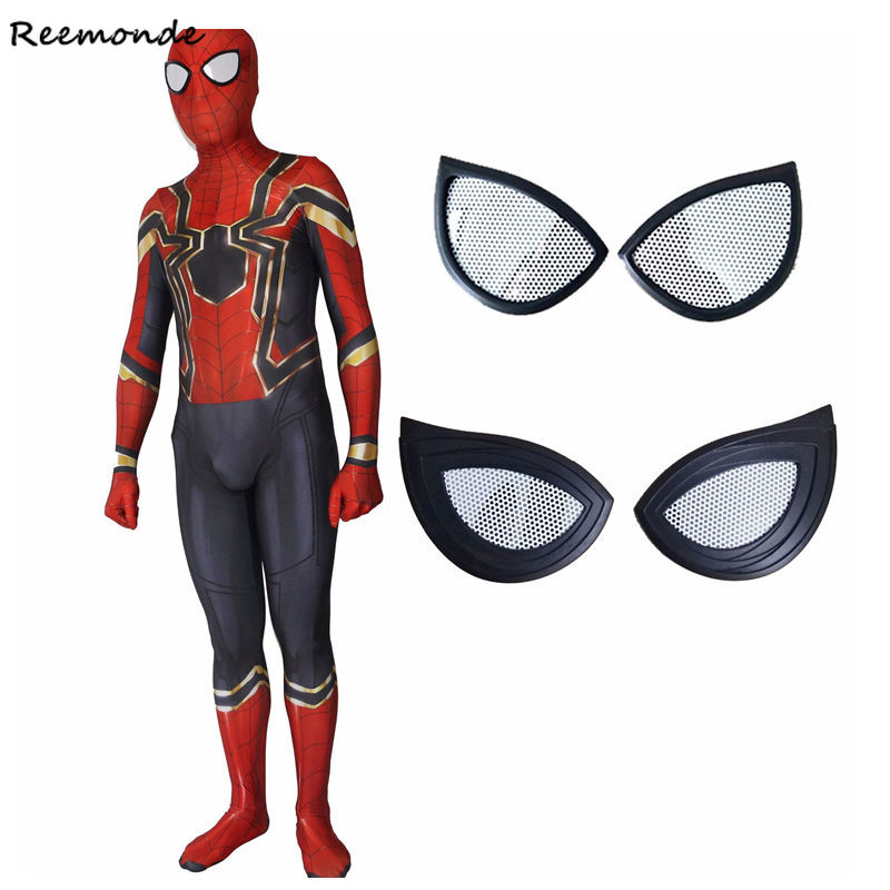 Adult Spiderman Homecoming Suit Cosplay Costumes Zentai Iron Spider Man Superhero Bodysuits Jumpsuits Costumes For Men Boys