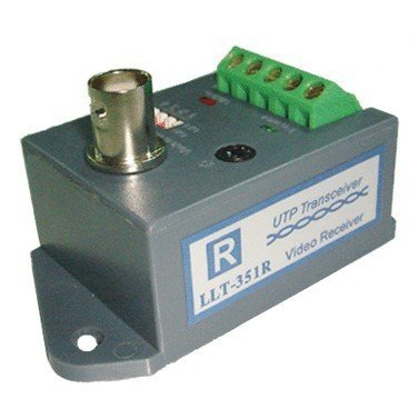 LLT-351R,1 CH Active UTP Video Balun(receiver),2200m for color video,2800m for B/W video