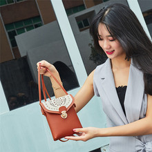 AOTIAN Women Shoulder Bag Fashion Hollow Out Cover Hasp Cross body Messenger Bag Small Square Bags Coin Phone Pocket Flap A30 cheap Shoulder Bags Soft NONE Polyester Versatile Solid Single No Pocket Handbags Style Fashion trend college Applicable scenes leisure banquet travel business