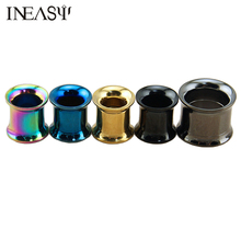 Titanium Steel Ear Expansion Tunnels 1 Pair Fashion Stainless Plugs And Body Jewelry Piercing Oreille