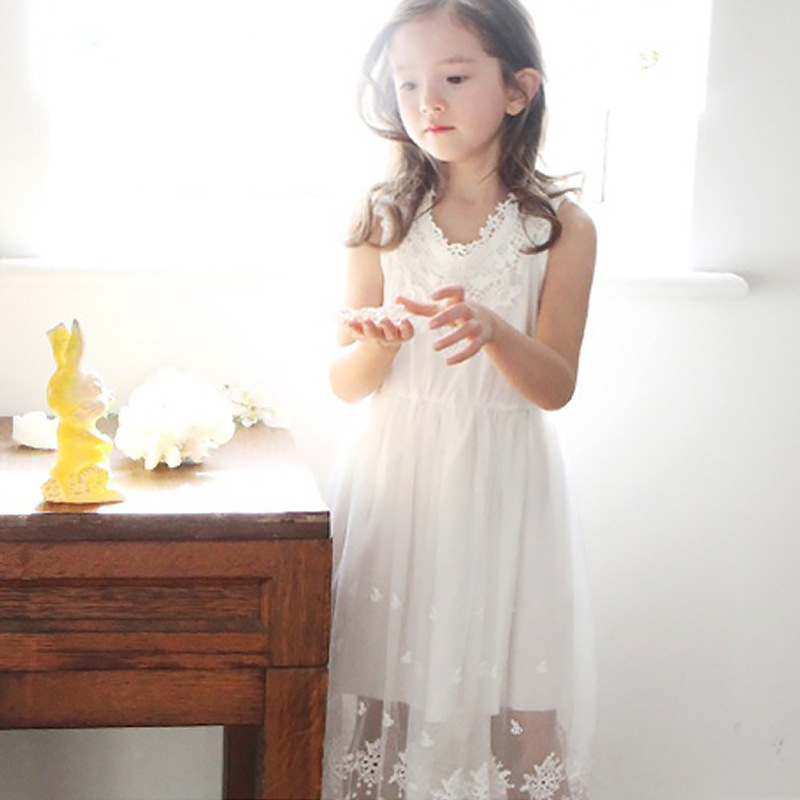 bebd4094d Baby Girls Crochet Lace Maxi Dresses Kids Girls Princess Party Dress ...