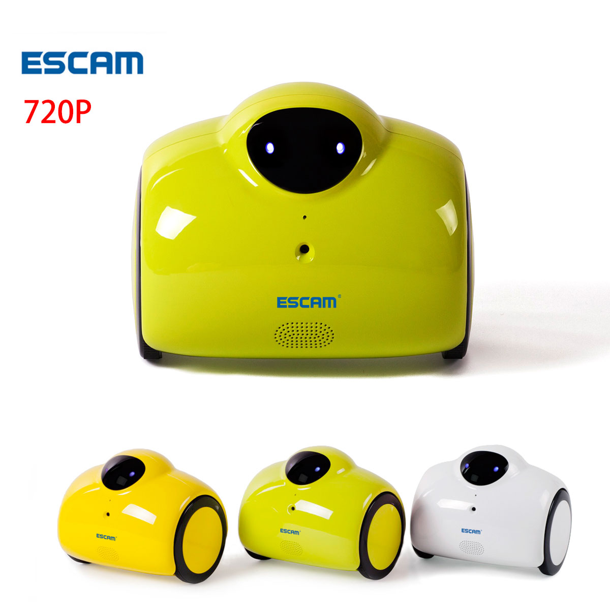 ESCAM Robot QN02 WIFI wireless IP Camera HD 720P 1MP Remote Move IP cam Baby Monitor Touching Interaction Audio Speaker Ipcam цена 2017