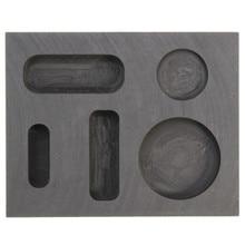 1OZ GOLD Crucible Graphite Ingot Bar Round Coin Combo Melting Metal Bar Molds Casting Refining Tool Parts