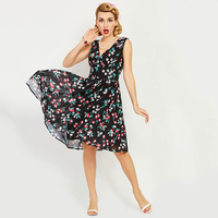 Sisjuly Women S Vintage Dress 1950s Style Summer Deep V Neck Sexy Backles Vintage Dress Sleeveless