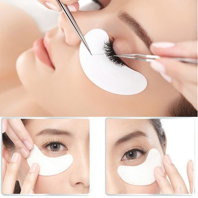 ee7611cfb38 Best Deal New Good Quality 100 Pair Eye Pads Eyelash Extensions Gel Pads  Eyepads lint-free Eyelash glue