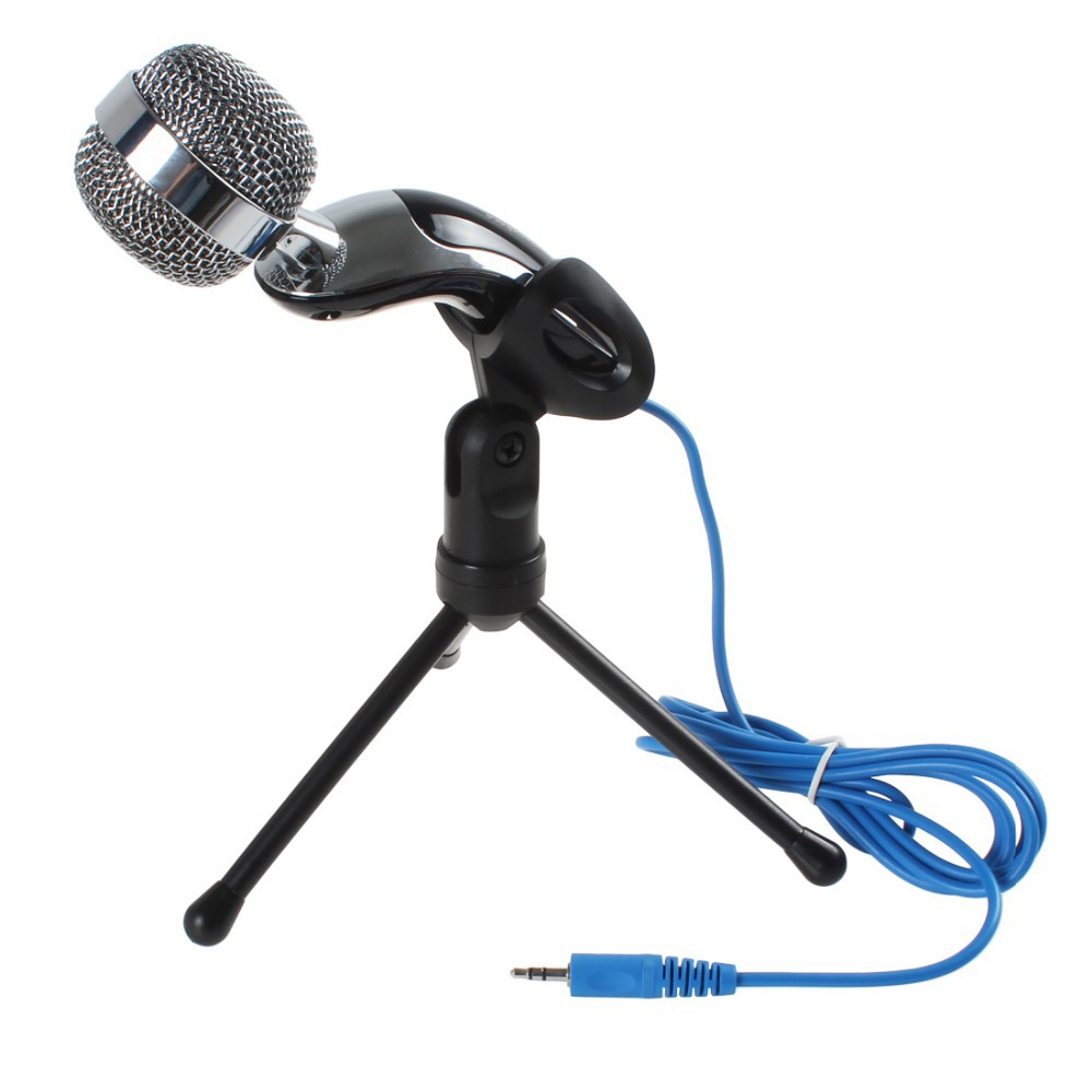 3.5mm Handheld Wired Mcirophone Game Microphones MIC Sound Recording For Laptop / Computer Free shipping
