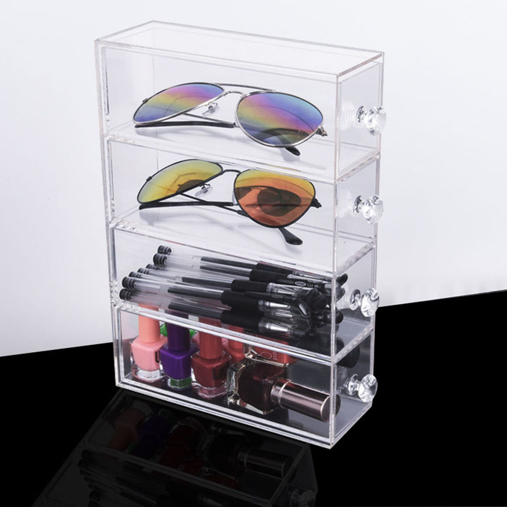 1 pcs Acrylic 1/2/3/4 layer pen holder Stationery storage box Glasses display stand