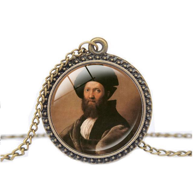Portrait of Baldassare Castiglione Necklace Vintage Choker