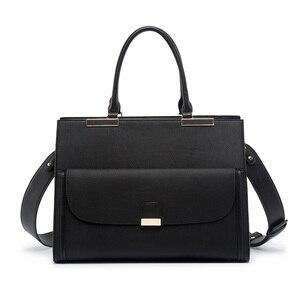 """Image 3 - 2020 موضة العلامة التجارية Kinmac سيدة بولي Leather حقيبة يد جلدية رسول حقيبة كمبيوتر محمول حقيبة 13 بوصة ، الحال بالنسبة لماك بوك اير برو 13.3 """"، دروبشيب 008"""