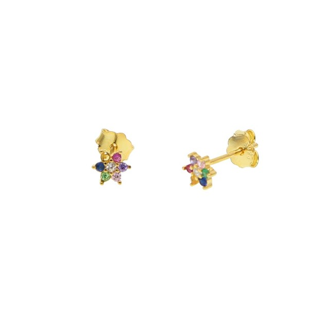 Buy 2019 new lucky rainbow flower stud - Lucky color for new year 2019 ...