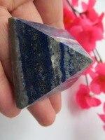 AAA+ Natural Lapis Lazuli Quartz Crystal Pyramid Healing Crystal Crafts Gift 38MM--42MM