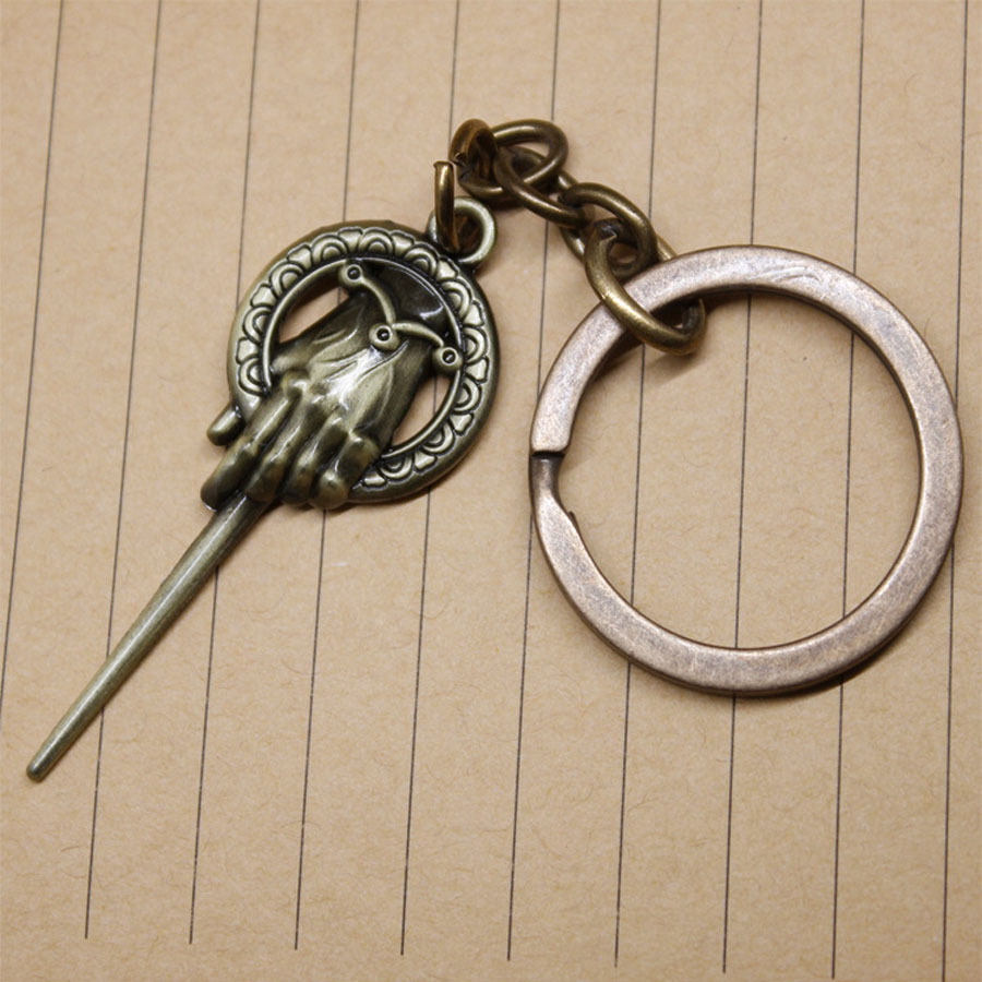 2017 New Game of Thrones Song of ice and fire Hand Of King IMP Keychain For car Toys Lannister Hand Of Queen Necklace toys белье