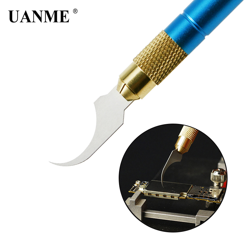 UANME Repaired knife CPU A7 A8 A9 A10 motherboard Burin To Remove Phone Processors knifes For iPhone IC Chip Repair Thin Blade