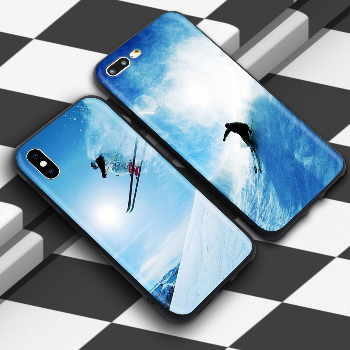 Skiing/ Snowboard Skis Case for iPhone 2
