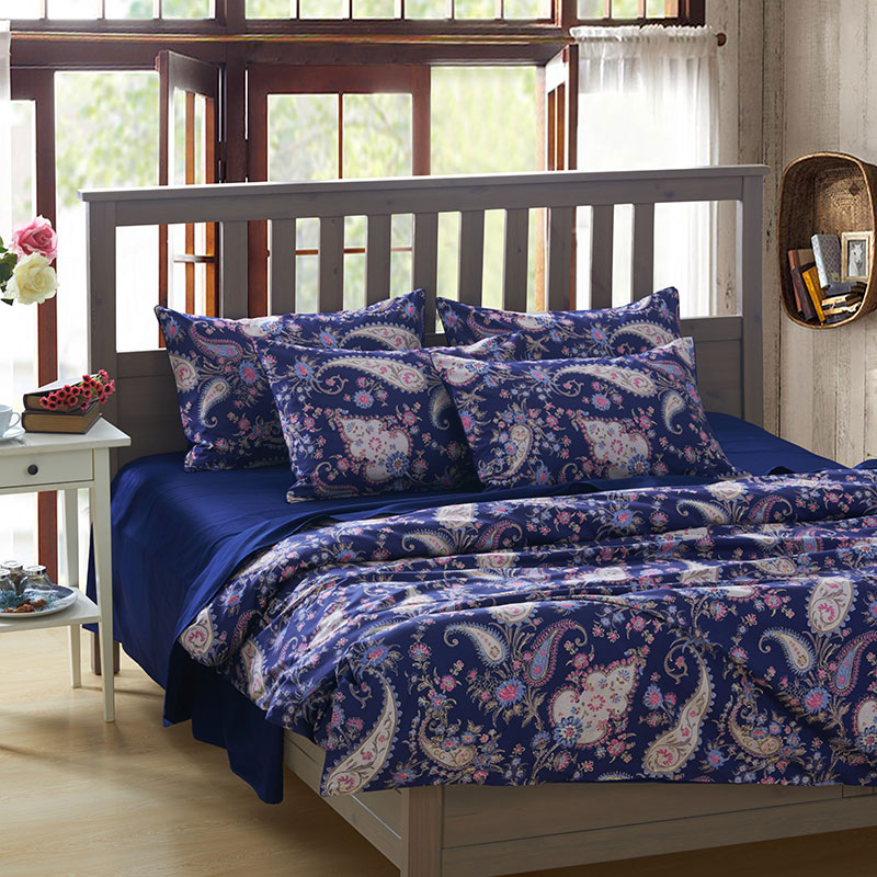 Egyptian Cotton Peacock Pattern Bedding Sets Tree Duvet Cover Feather Shoe  Print Bedclothes Sheet Bed Set Linen Queen King In Bedding Sets From Home  ...