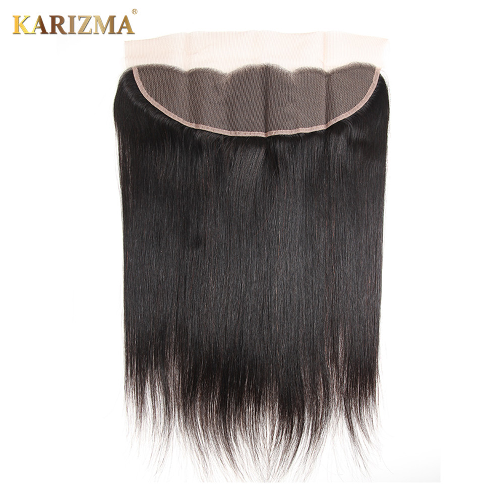 ФОТО Karizma Straight Hair 13*4 Ear To Ear Lace Frontal Natural Color 10-18inches
