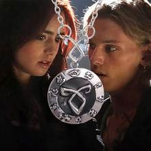 The Mortal Instruments City of Bones necklace vintage Angelic Power Runes Shadowhunters pendant for men and women wholesale