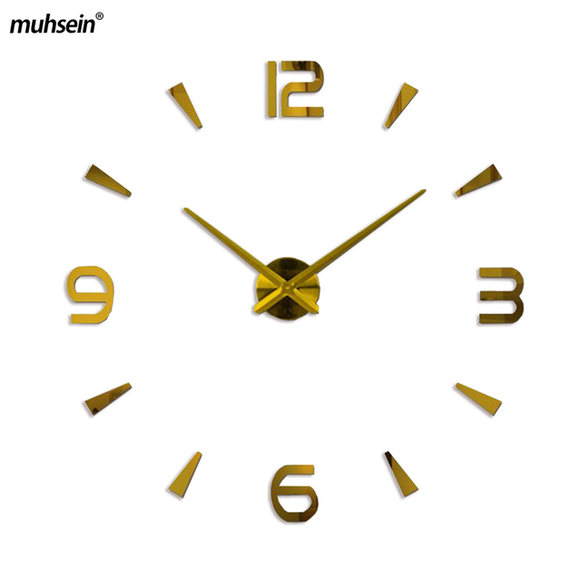 2018 new wall clock quartz watch reloj de pared modern design large decorative clocks Europe acrylic stickers living room clock