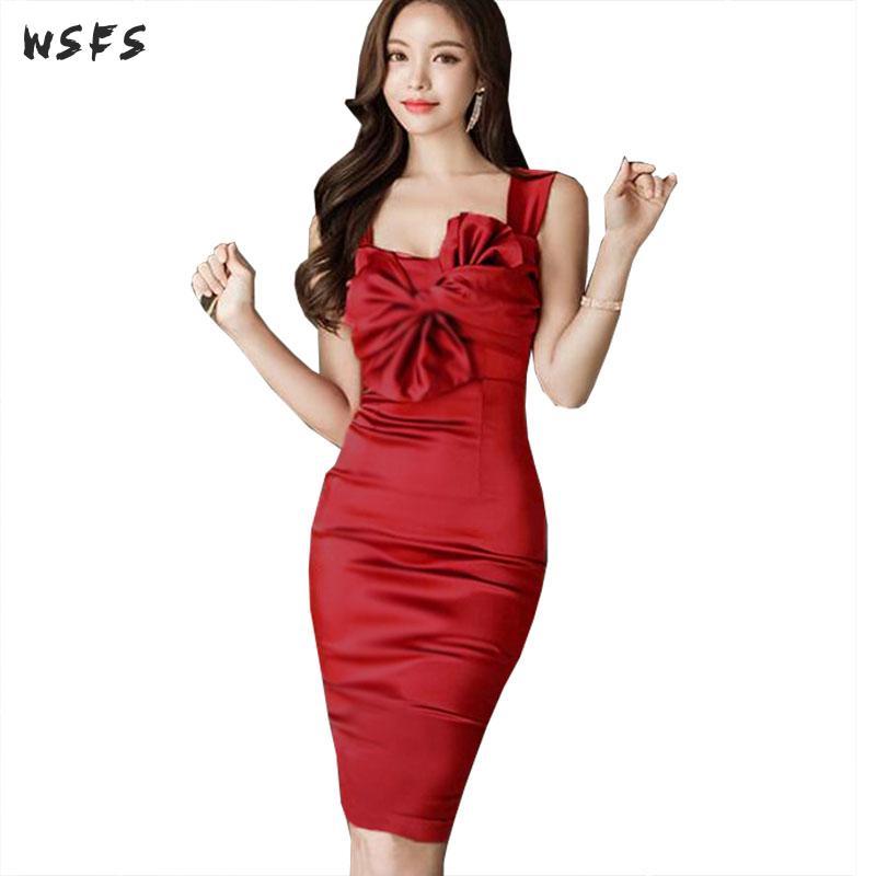 7e8009f8960 Moulante Red Arc Parti Femmes Sangle Robes Rouge Dames Été Sexy Robe  Bandage Manches Midi Vintage ...
