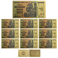 24k Красочная Золотая банкнота в Zimbabwe вийском стиле сто триллион долларов бумажные деньги фестиваль подарки банкнота 10 шт для коллекций