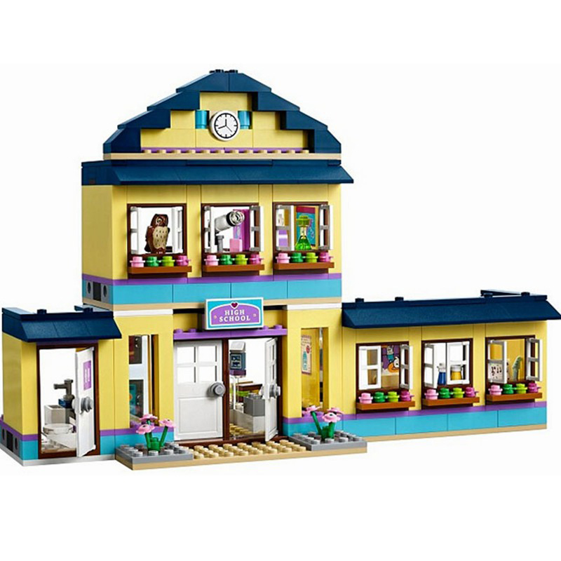Friends Heartlake High School 41005 Bricks Figure Girls Building Blocks Model Set Toys For Children Compatible  Legoedly 489pcs heartlake city high school bela building blocks toy set friends educational toys compatible with lepine friends 41005