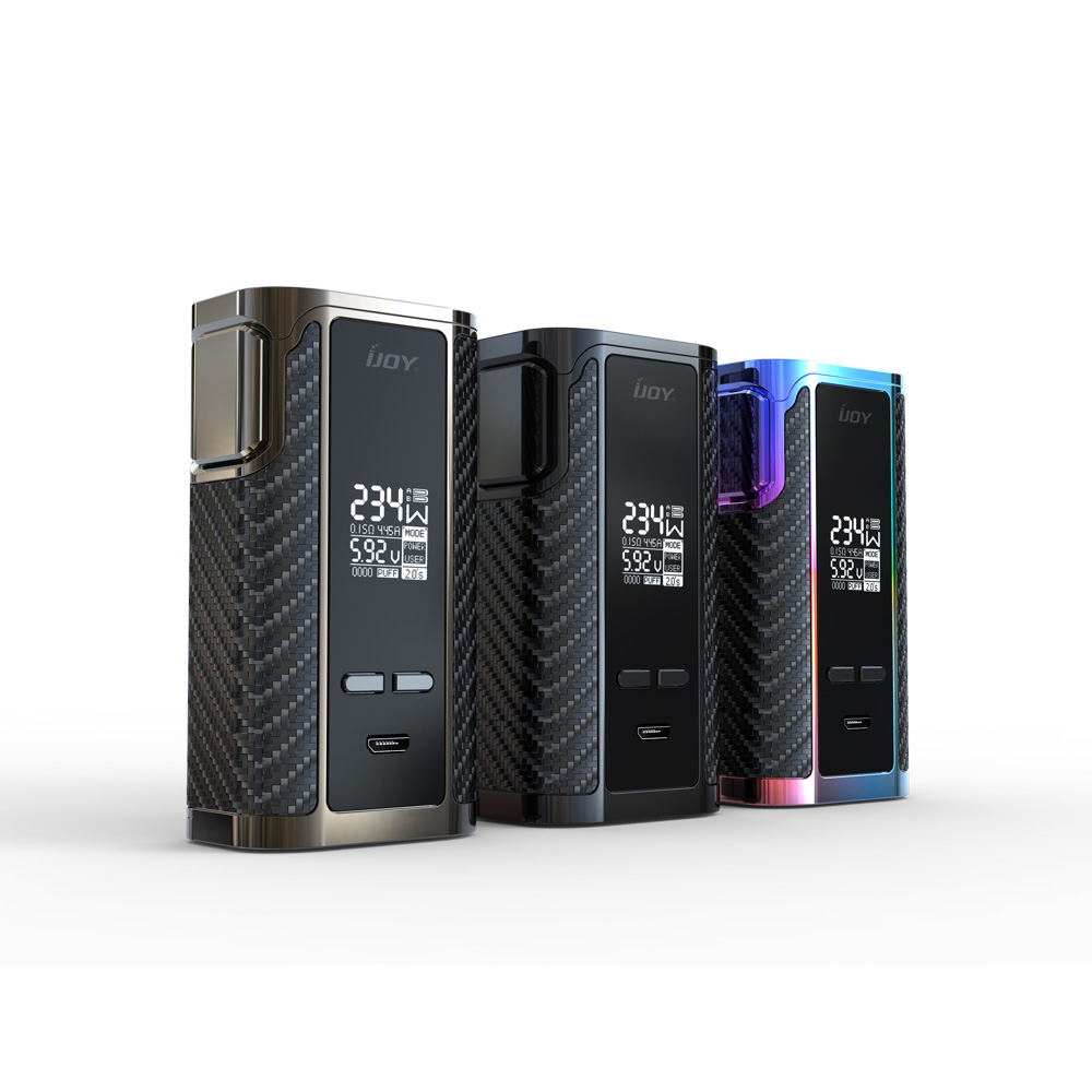 100% Original IJOY Captain PD270 Box MOD 234W OLED Screen Box Mod Powered by Dual 20700 Batteries Electronic Cigarette Vaper original ijoy captain pd1865 tc 225w kit captain tank 4ml atomizer no 18650 battery captain pd1865 mod e cigarette vaping kit