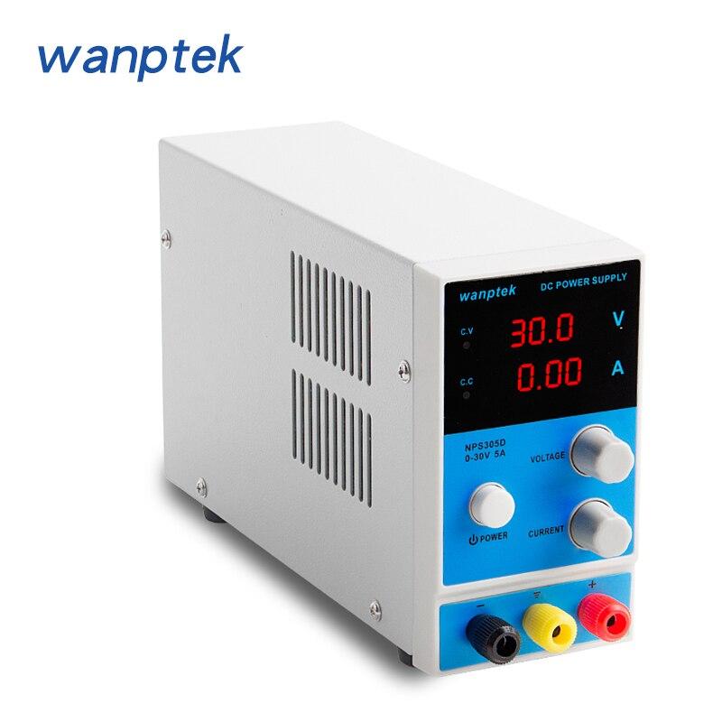 Wanptek laboratoire banc alimentation affichage numérique réglable commutation tension régulateurs réparation laboratoire DC alimentation
