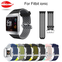 Lightweight Ventilate Silicone Sport Watch Bands Bracelet for Fitbit Ionic Smart Adjustable Replacement Bangle Accessory